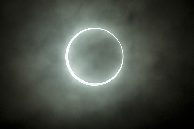 This is the Annular Eclipse of May 21 2012.